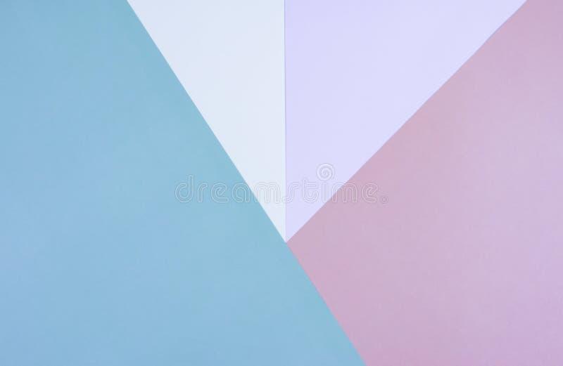 Flache Lage des Pastells tapeziert Hintergrund stockfotos