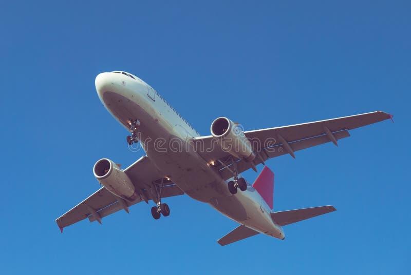 Flache Landung stockfotografie