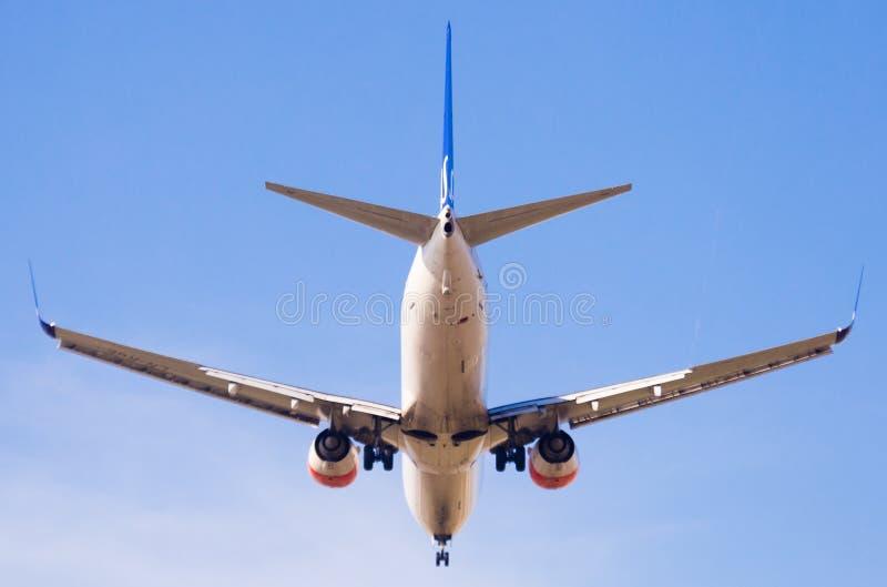 Flache Landung Dämpfungsregler-Fluglinien stockbilder