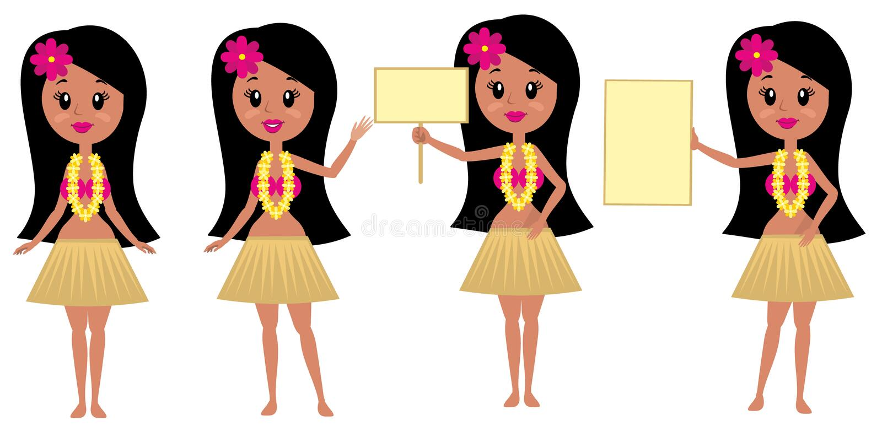 Flache Mädchen vektor abbildung