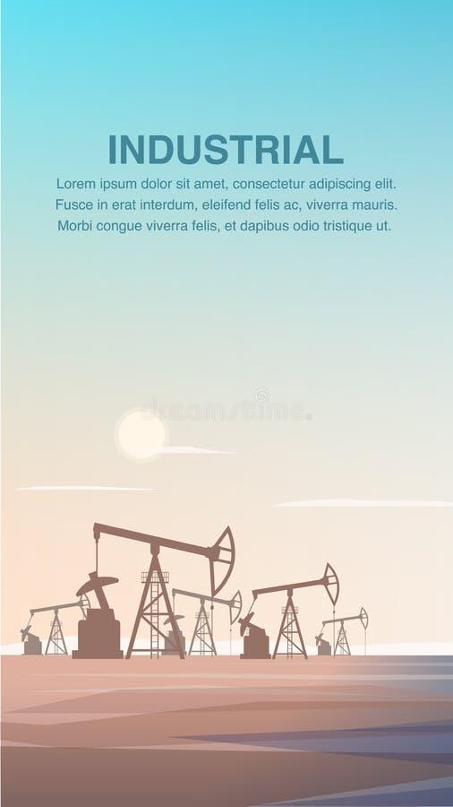 Flache Produktions-Bohrung Rig Oil von der Tiefen-Erde lizenzfreie abbildung