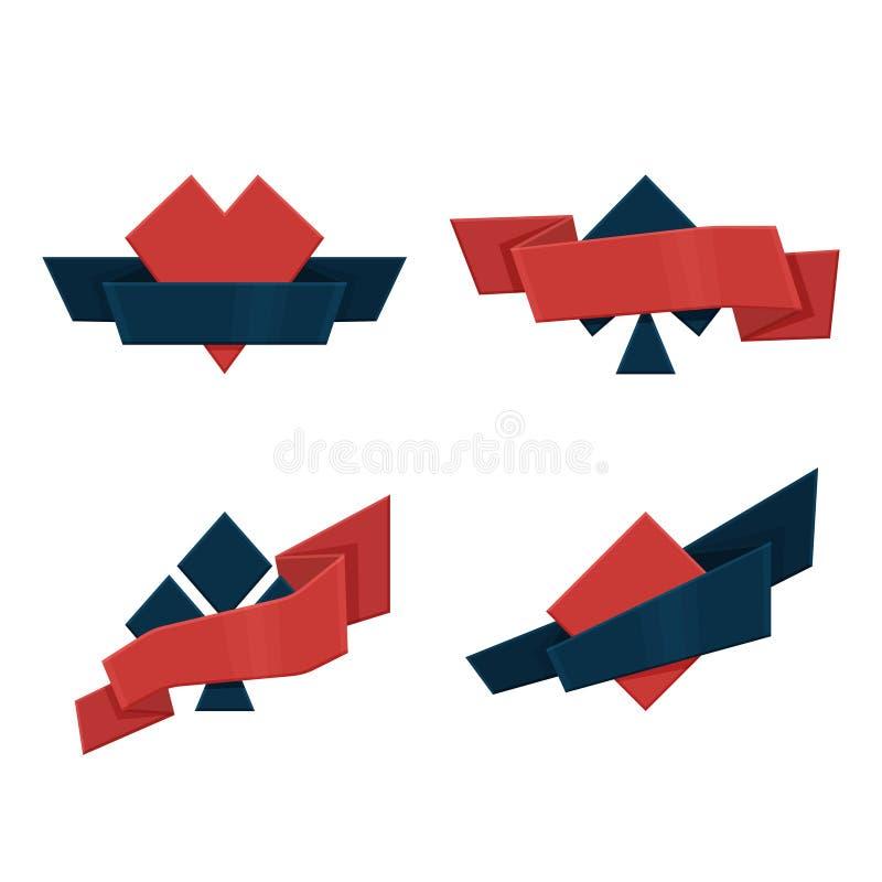Flache spielende Klage mit Bändern stock abbildung