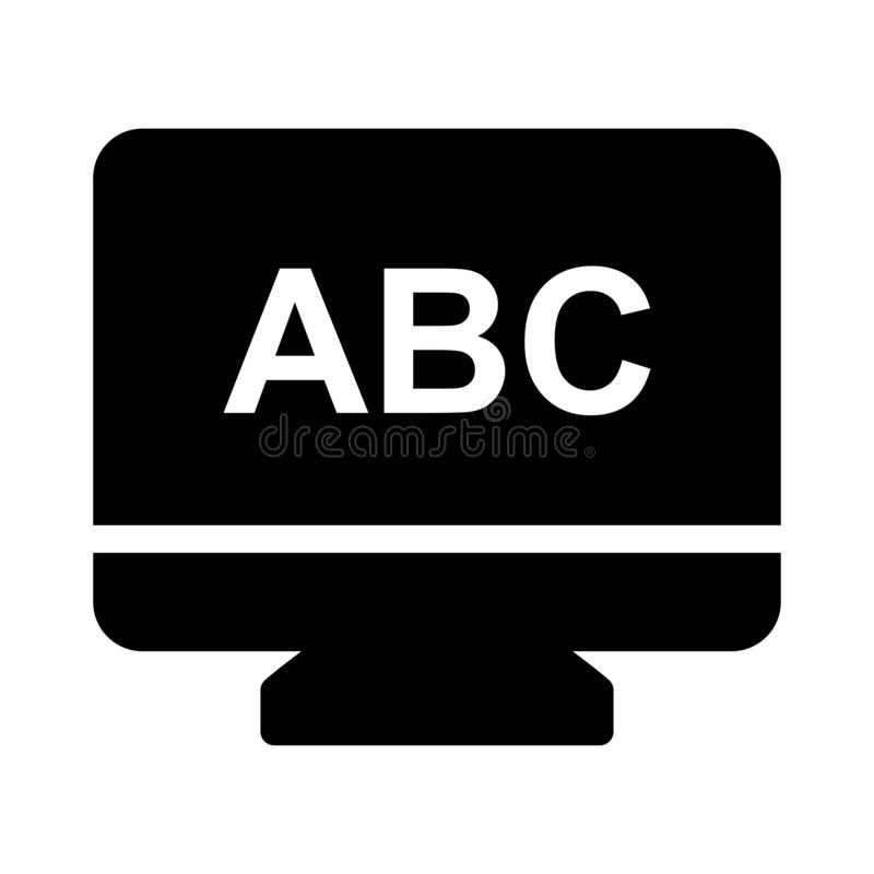 Flache Vektorikone des on-line-Glyph stock abbildung