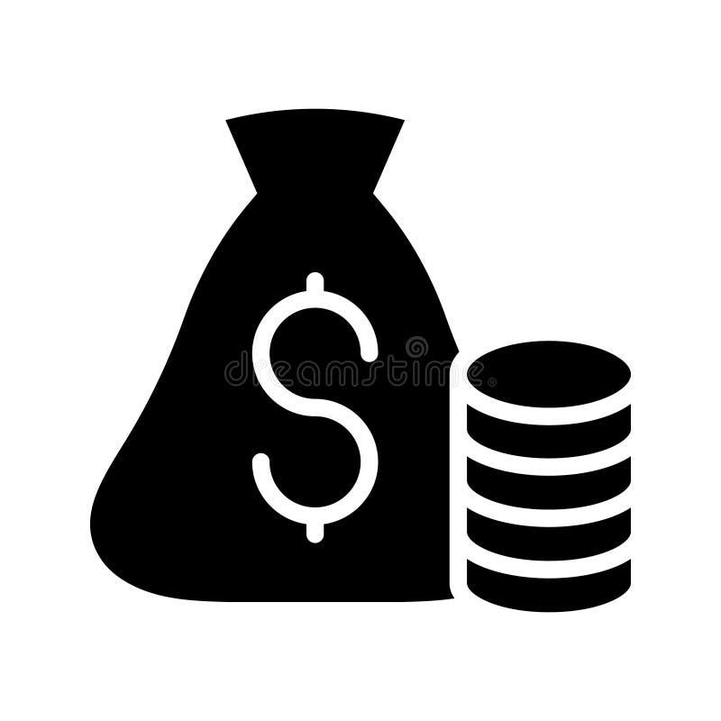 Flache Vektorikone Geld Glyph vektor abbildung