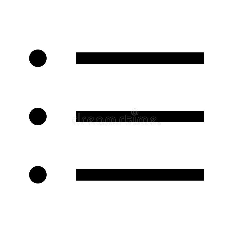 Flache Vektorikone Men? Glyph vektor abbildung