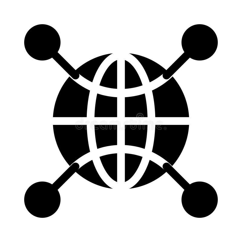 Flache Vektorikone Netz Glyph lizenzfreie abbildung
