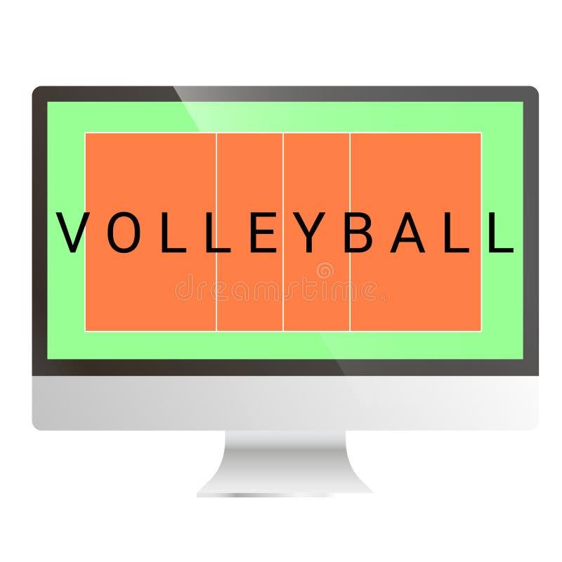 Flache Volleyballturnhalle lizenzfreie abbildung
