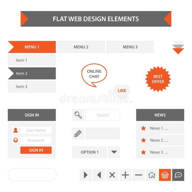 Flache Webdesignelemente vektor abbildung
