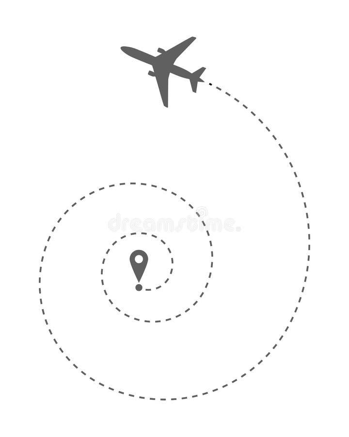 Flache Wegspirale oben vektor abbildung
