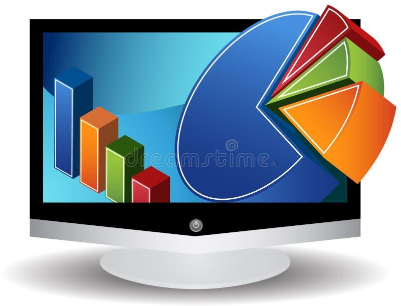 flacher Bildschirm der videographik-3D lizenzfreie abbildung