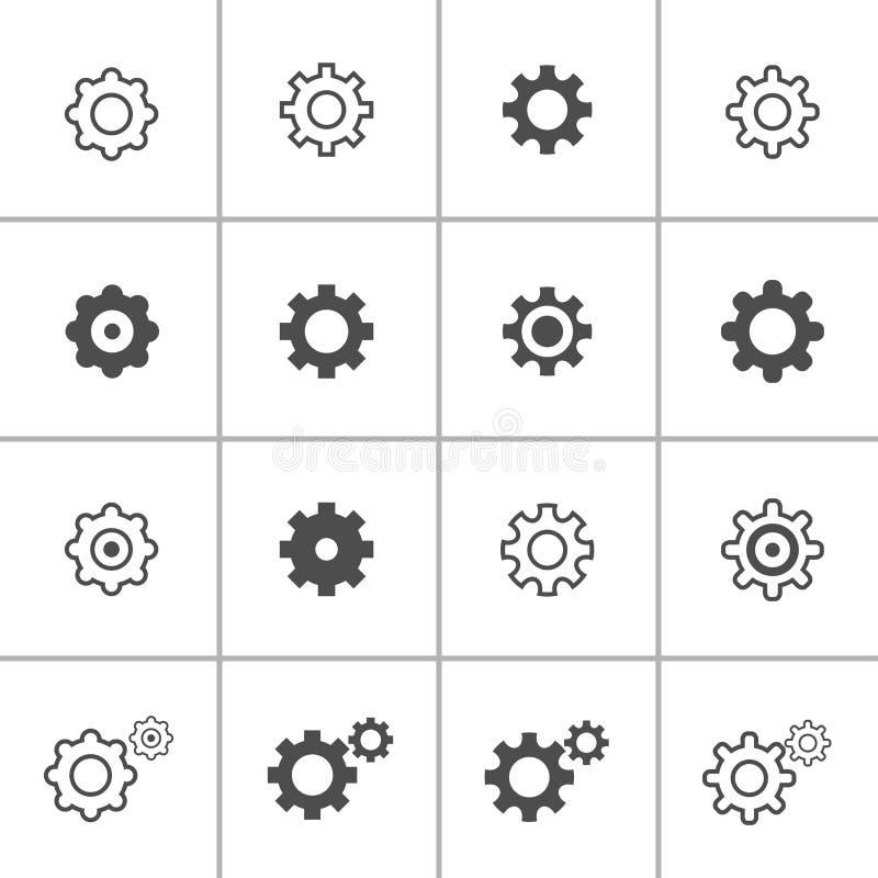 Flacher Designeinstellungs-Ikonensatz, Vektor eps10