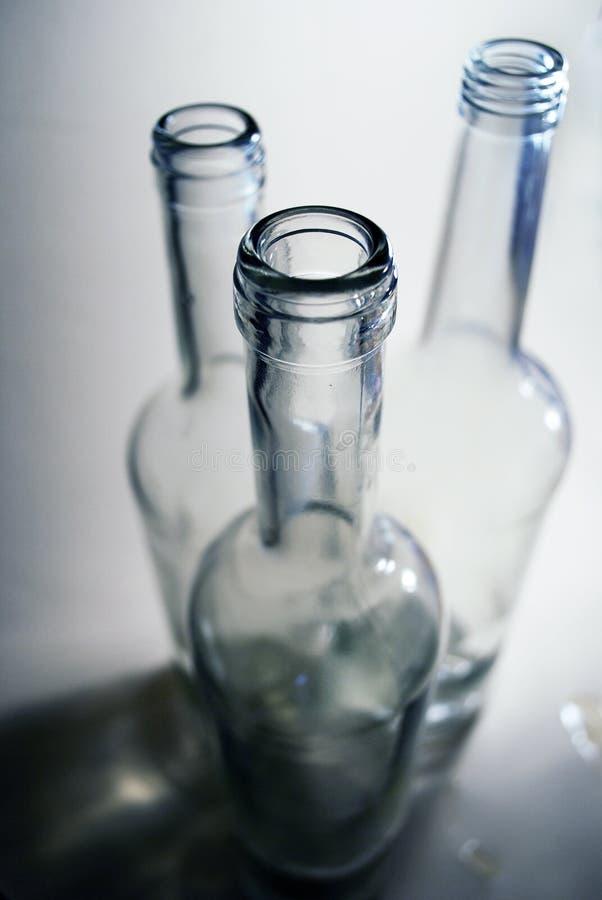 Flacher DOF, Fokus auf zentralen Flaschen lizenzfreie stockfotos
