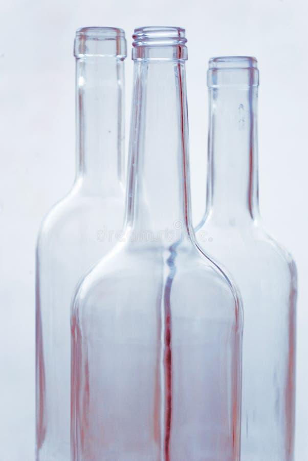 Flacher DOF, Fokus auf zentralen Flaschen lizenzfreies stockbild