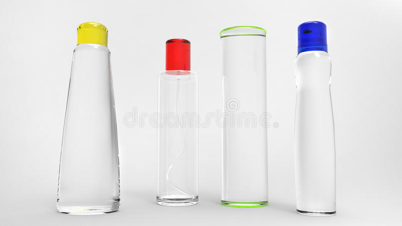 Flacher DOF, Fokus auf zentralen Flaschen lizenzfreies stockfoto