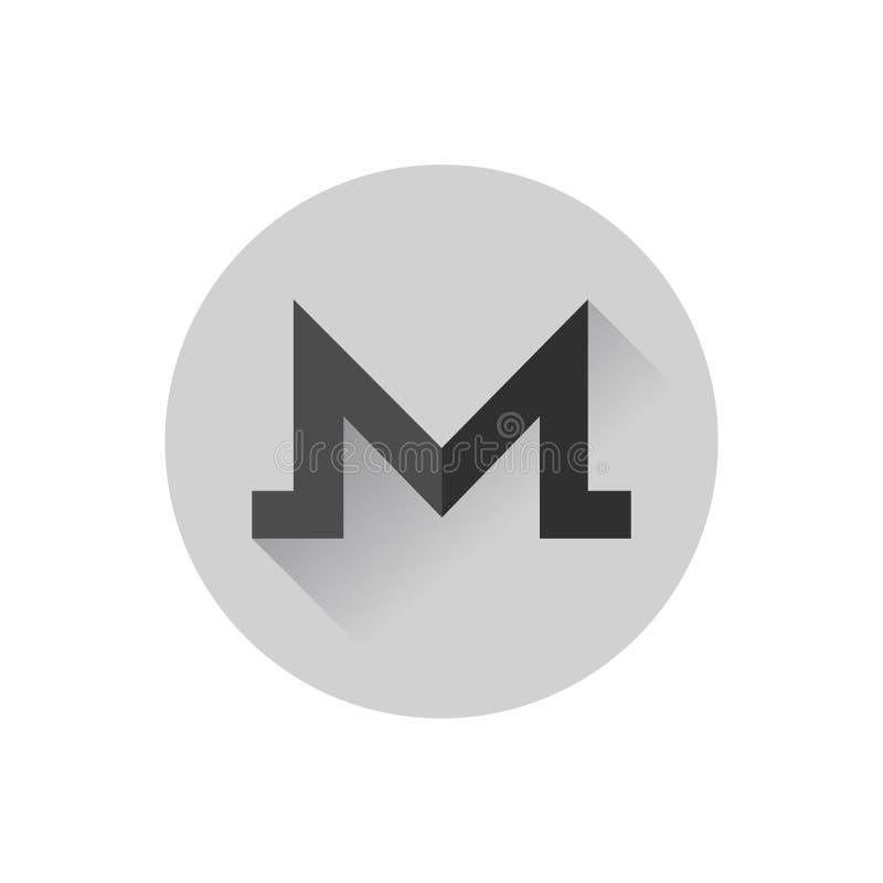 Flacher Entwurf Monero lizenzfreie abbildung