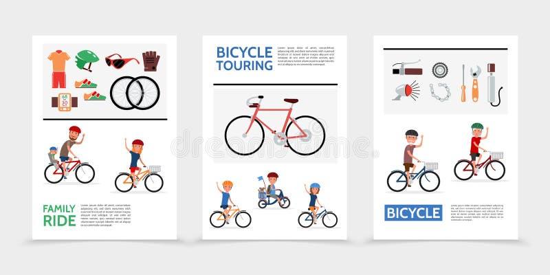 Flacher Fahrrad-Poster lizenzfreie abbildung