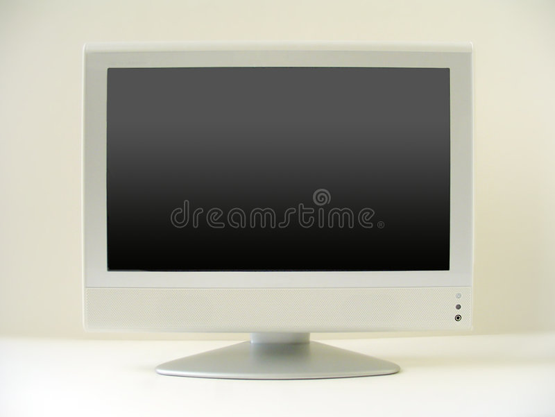 Flacher Fernsehbildschirm stockfoto