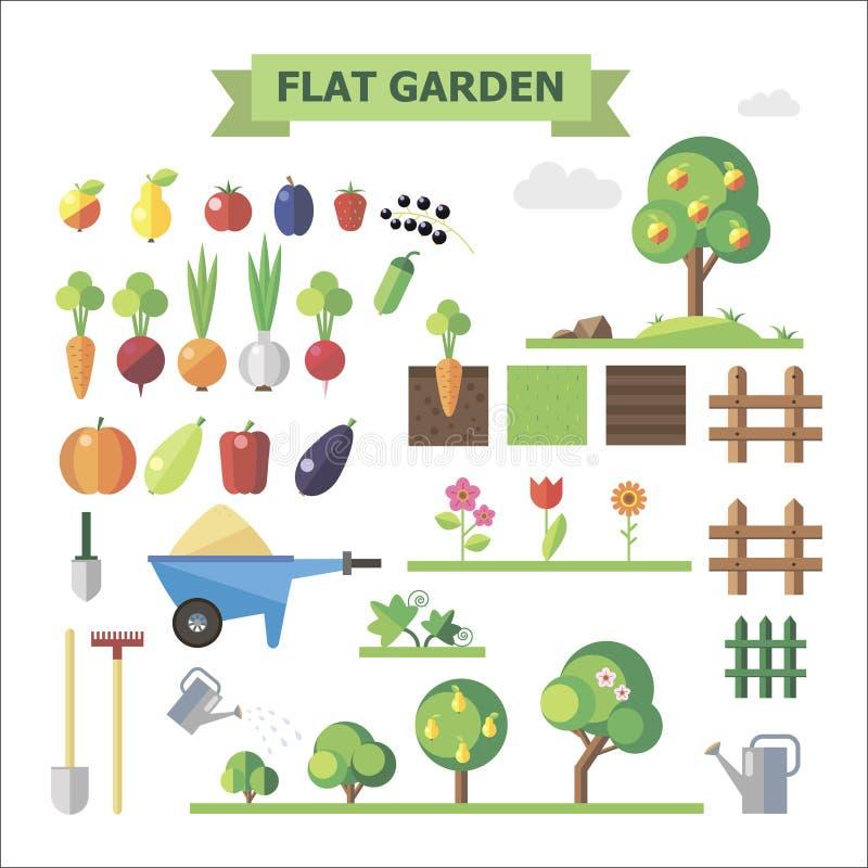 Flacher Garten lizenzfreie abbildung