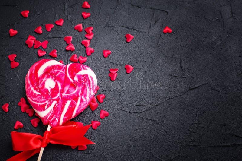 Flacher Hintergrund St. Valentine Day legen stockfoto