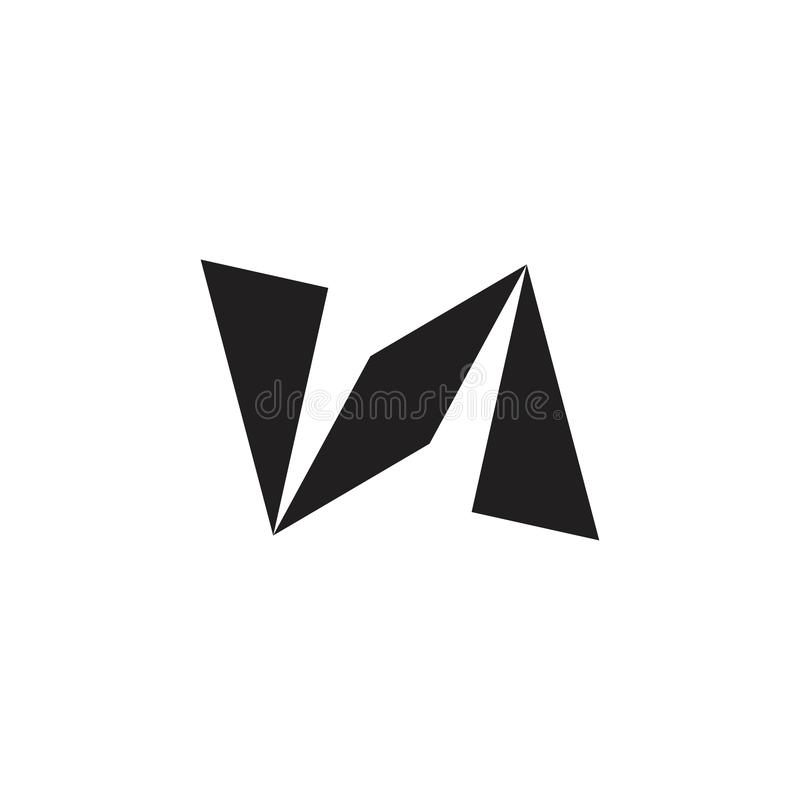 Flacher Logovektor des abstrakten geometrischen Pfeilpapiers stock abbildung