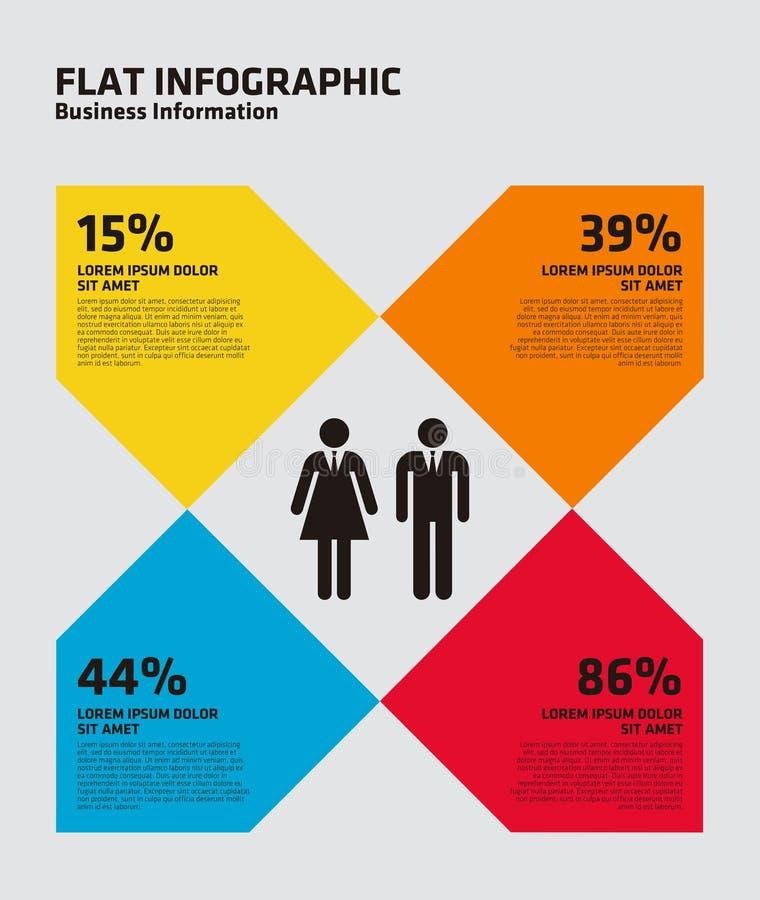 Flacher Prozentsatz Infographic stock abbildung