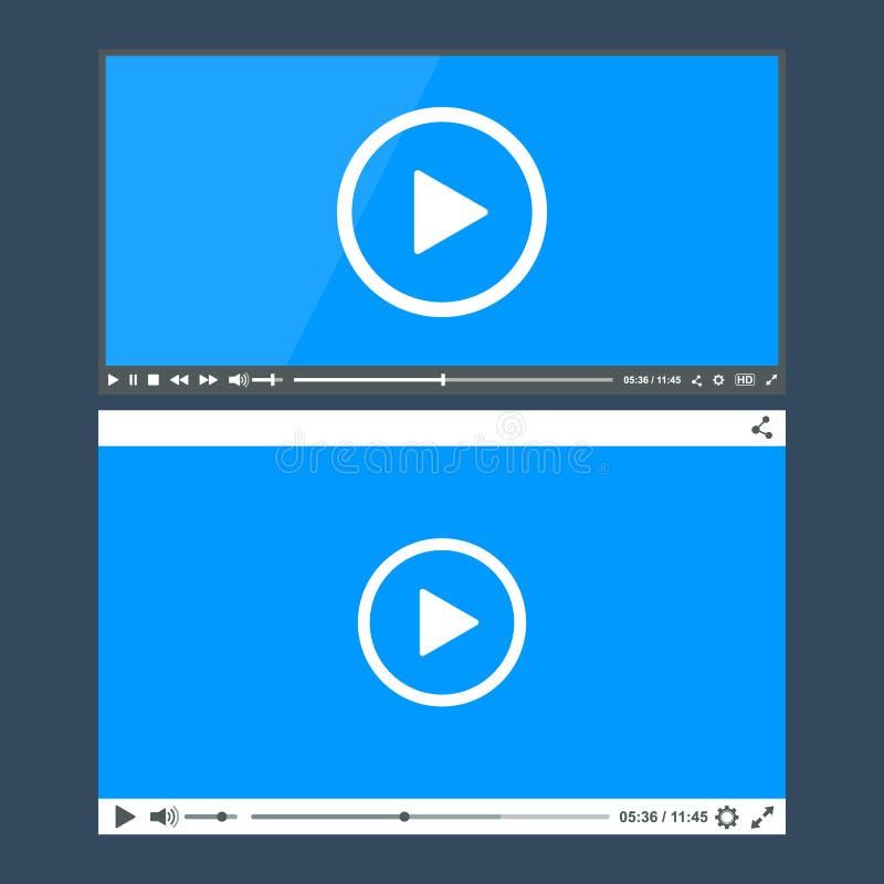Flacher sauberer Video-Player für Netz vektor abbildung