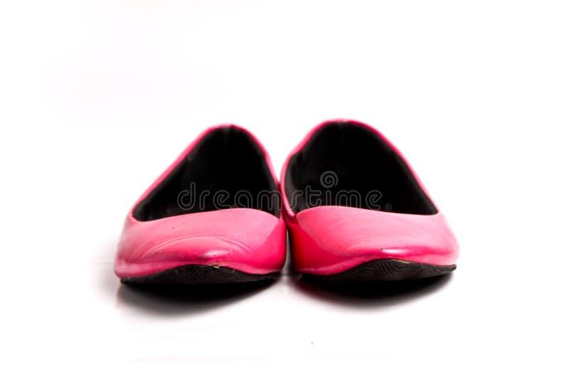 Flacher Schuh der Eleganz lokalisiert auf weißem Hintergrund lizenzfreies stockbild