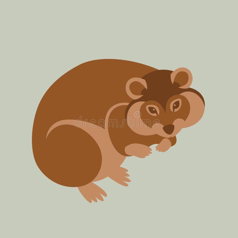 Flaches Artprofil der Hamstervektorillustration stock abbildung