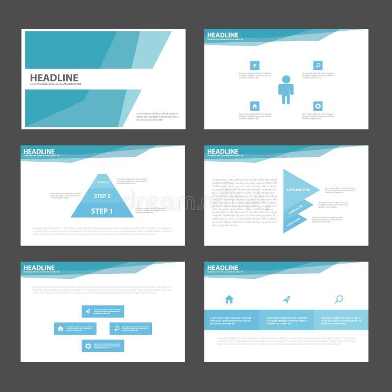 Flaches Design Blauer Polygondarstellungsschablonen Infographic ...