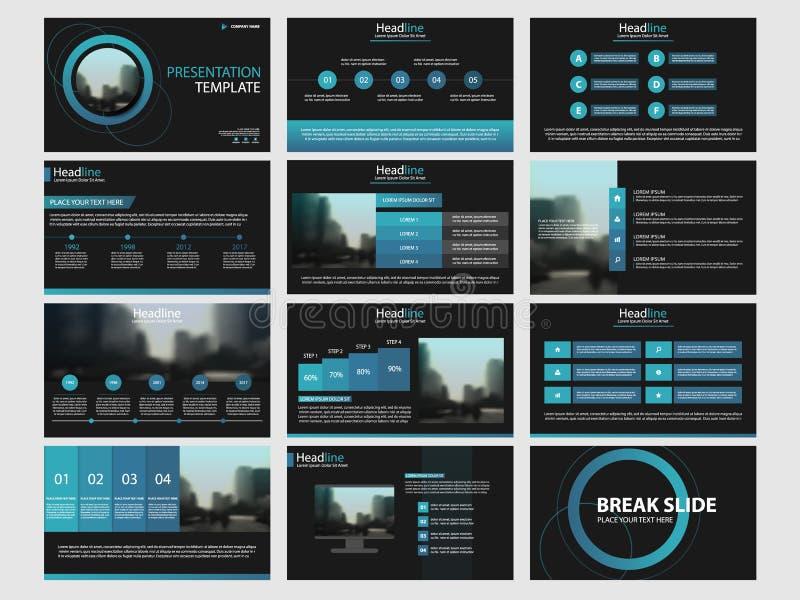 Flaches Design der Infographic-Element-Schablone stellte für Jahresbericht ein vektor abbildung