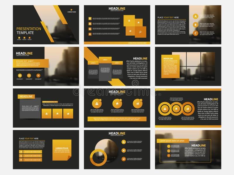 Flaches Design der Infographic-Element-Schablone stellte für Jahresberichtbroschürenfliegerbroschürenmarketing-Werbung ein stock abbildung