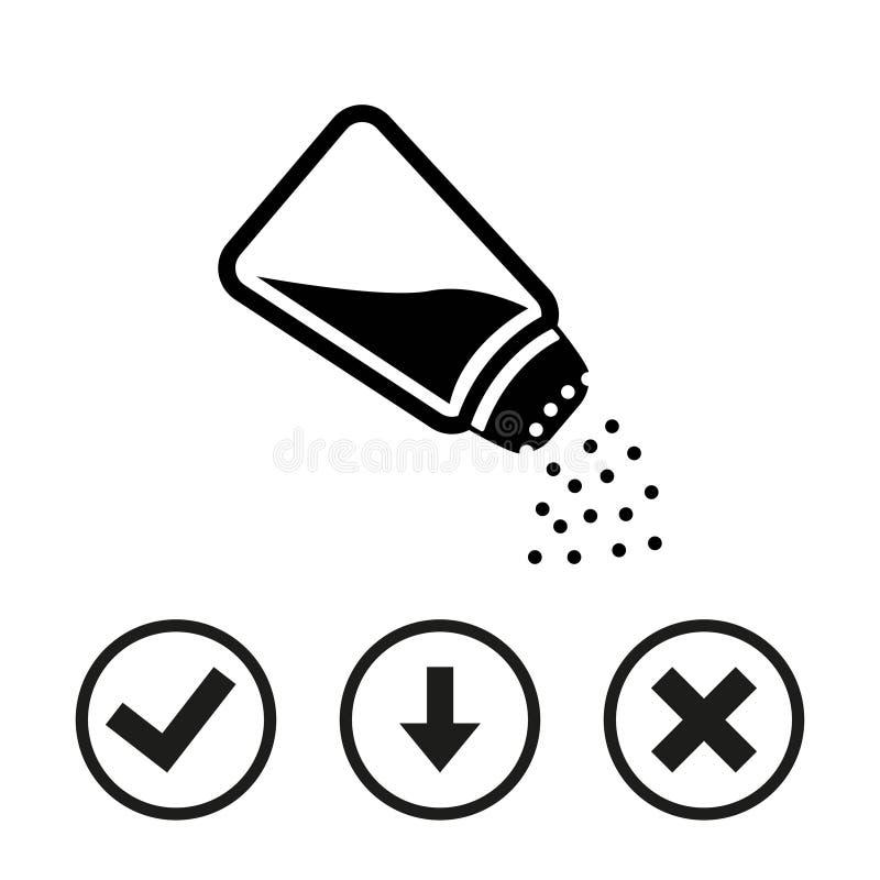 Flaches Design der Salzikonenvorratvektor-Illustration lizenzfreies stockfoto