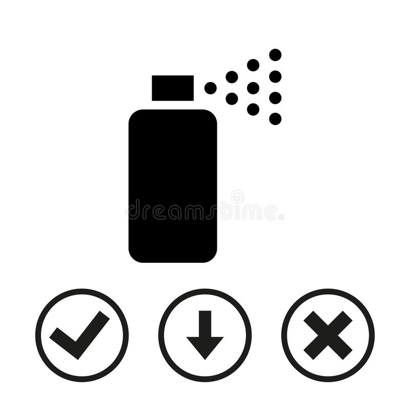 Flaches Design der Sprayikonenvorratvektor-Illustration stockbild