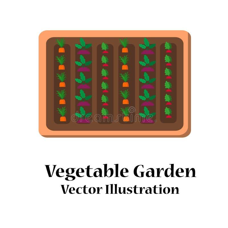 Flaches Design des Gemüsegartenplaners lizenzfreie stockfotos