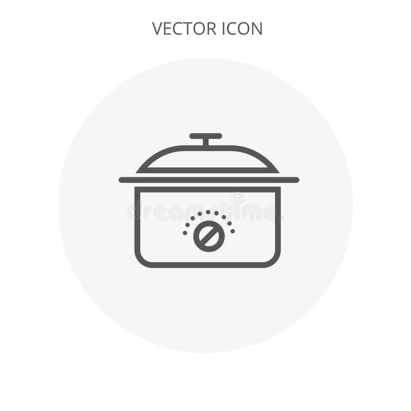 Flaches Design des multi multi Kocher-Vektors des Chefs stock abbildung