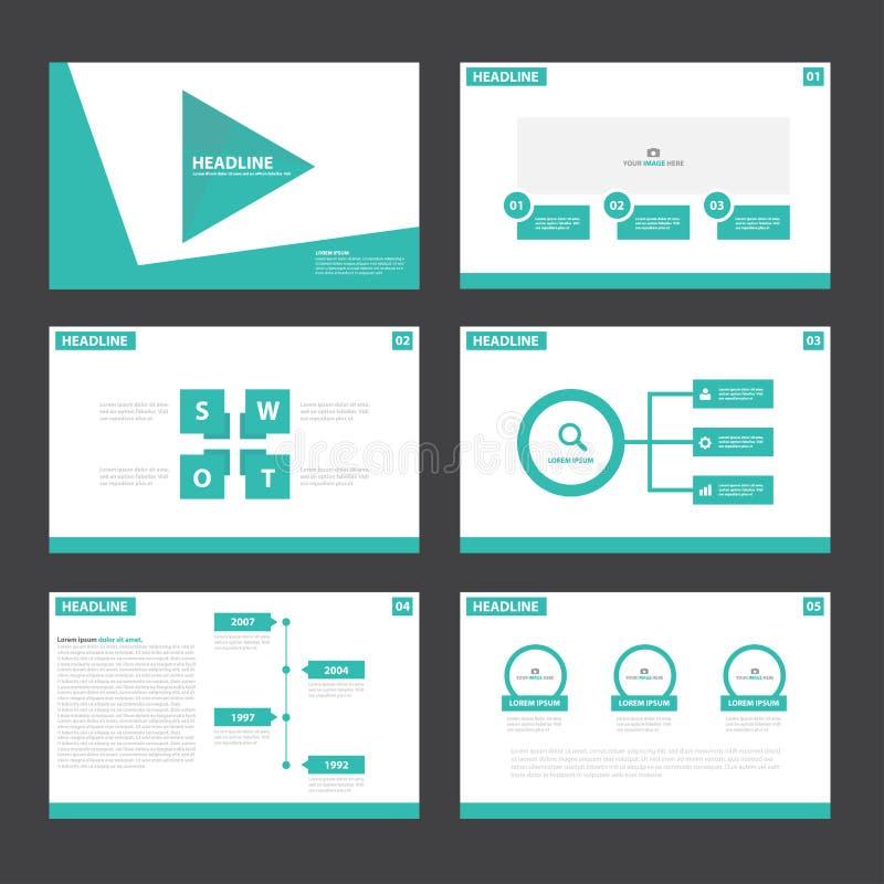 Flaches Design Grüner Darstellungsschablonen Infographic-Elemente ...