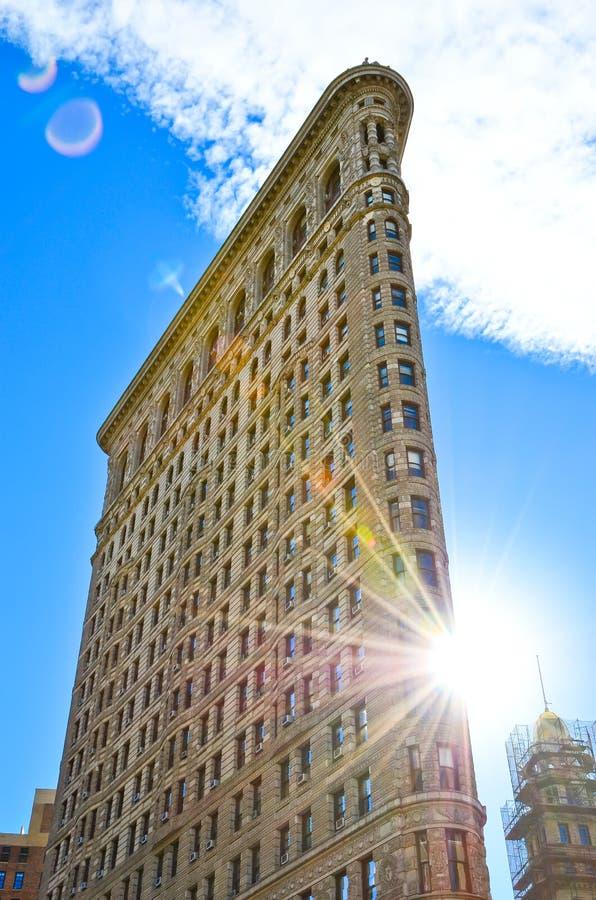 Flaches Eisengebäude in Manhattan, New York City stockfotografie
