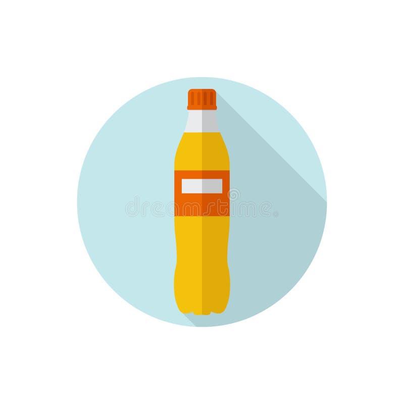 Flaches Entwurf Soda stock abbildung
