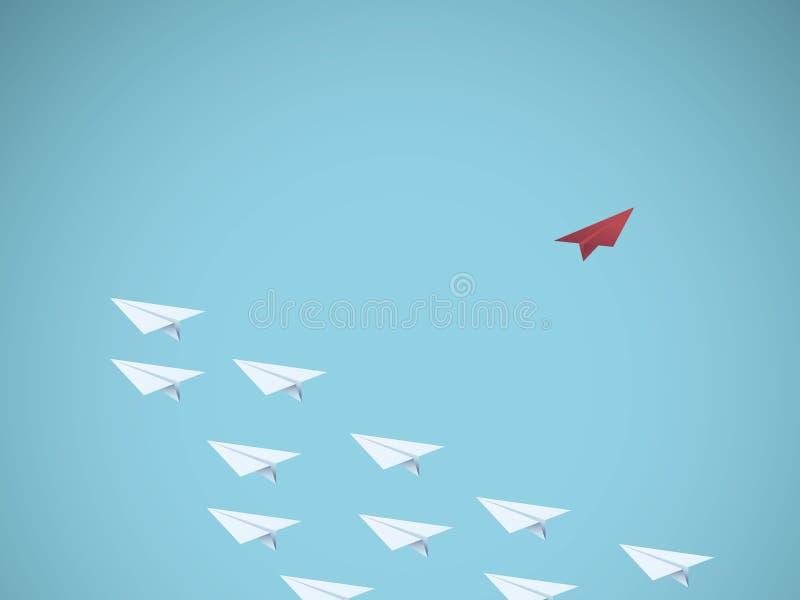 Flaches Führergeschäfts-Vektorpapierkonzept Denken Sie unterschiedliches Konzept Symbol der Führung, Kreativität, einzigartige Ei lizenzfreie abbildung