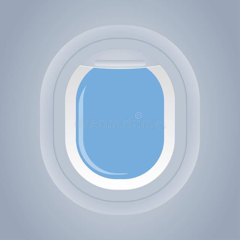 Flaches Fenster lokalisierter Innenansichtvektor vektor abbildung