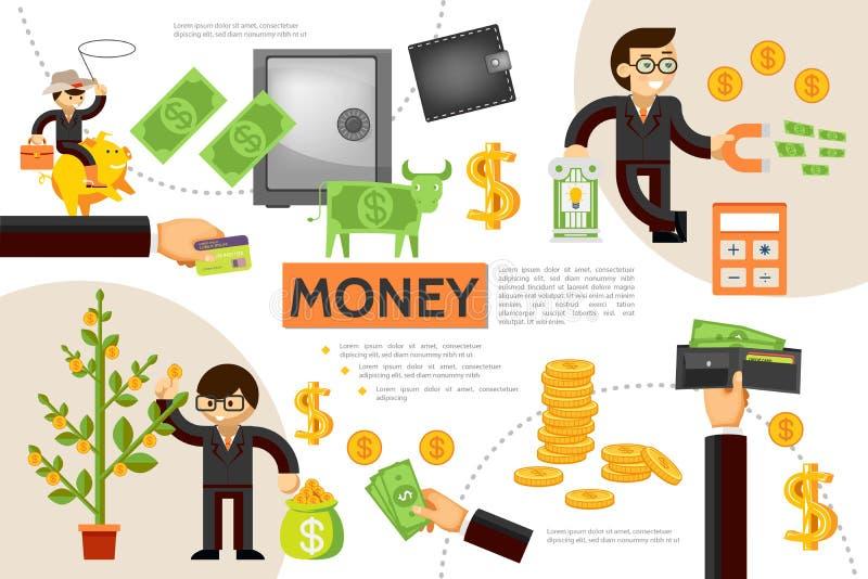 Flaches Finanzierung-Infographic-Konzept lizenzfreie abbildung