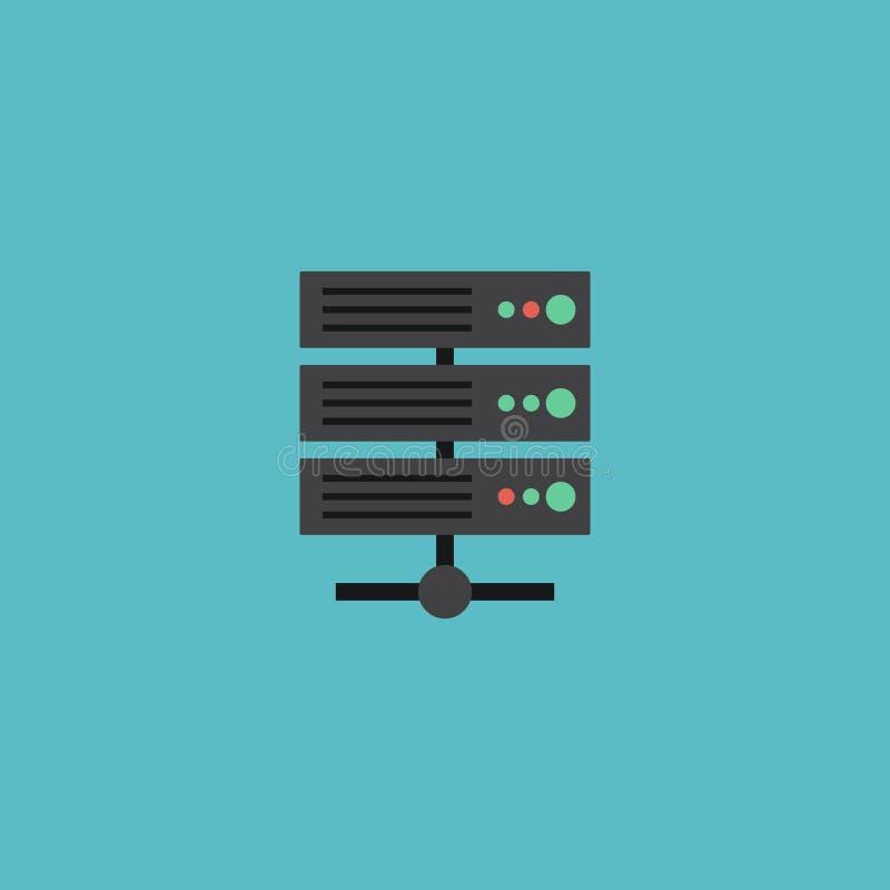 Flaches Ikonen-Server-Element Vektor-Illustration der flachen Ikone Datacenter lokalisierte stock abbildung
