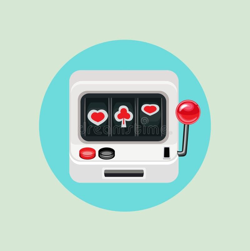 Flaches Ikonendesign des Spielautomaten lizenzfreie abbildung