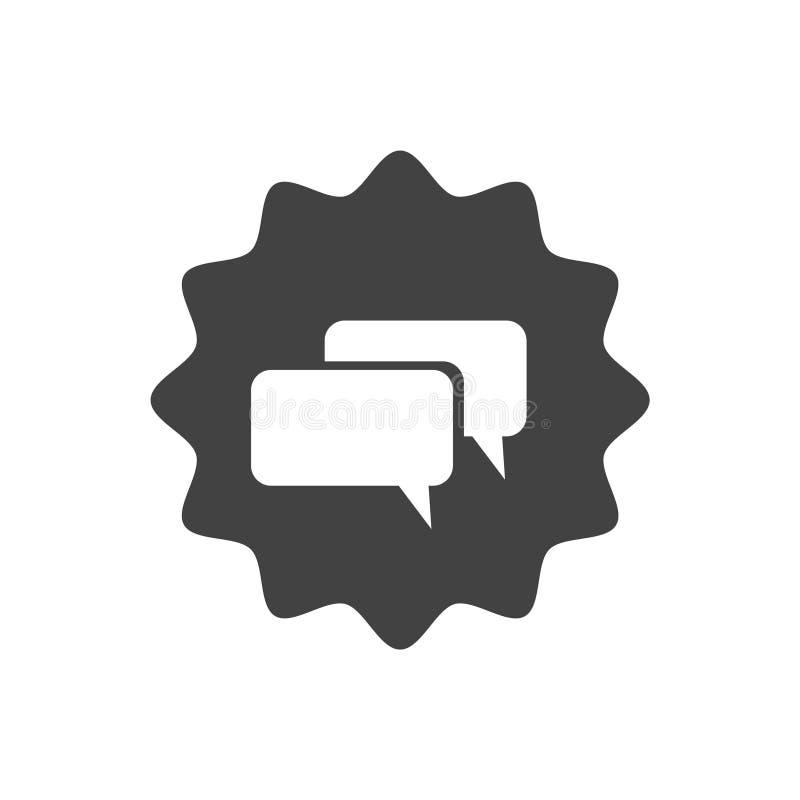 Flaches Ikonendesign Gespräch zu uns Live-Chat-Symbol mit Spracheblasen vektor abbildung