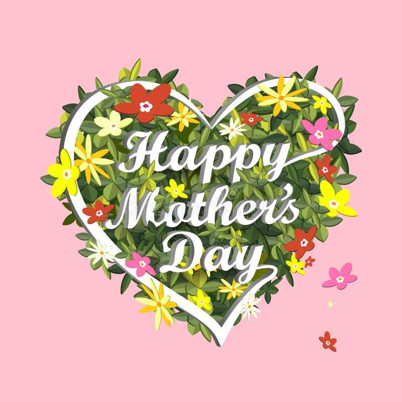 Flaches isometrisches infographic 3d für glücklichen Muttertag stock abbildung
