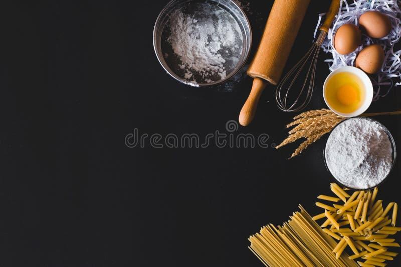 Flaches Lageküchenkonzept stockfoto