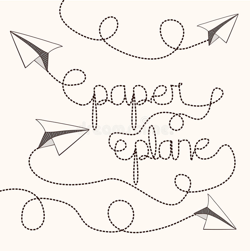Flaches PapierDesign stock abbildung