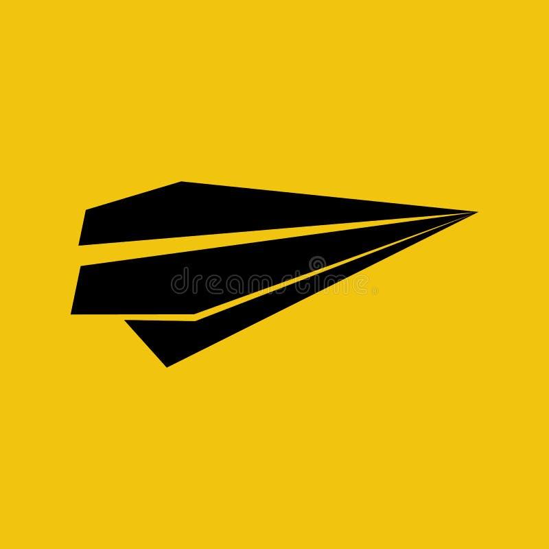Flaches Papierschattenbild vektor abbildung