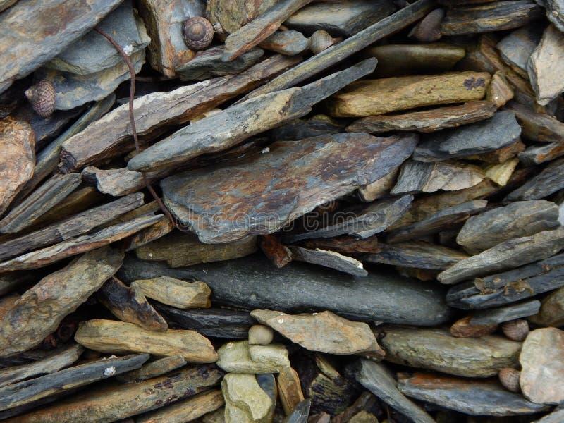 Flaches Steinmosaik lizenzfreie stockbilder