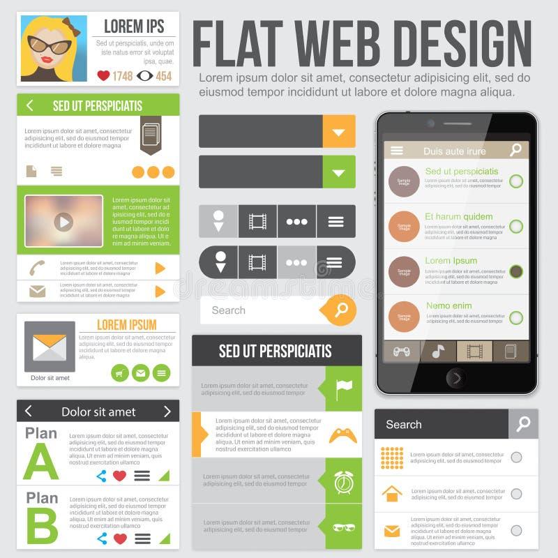 Flaches Webdesign stock abbildung